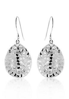 Belk & Co. Sterling Silver Mirror Diamond Cut Earrings