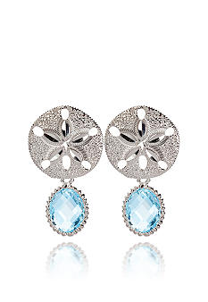 Belk & Co. Sterling Silver Blue Topaz Sand Dollar Earring