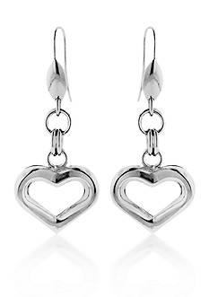 Belk & Co. Sterling Silver Heart Earrings