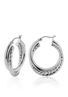 Belk & Co. Sterling Silver Double Hoop Earrings