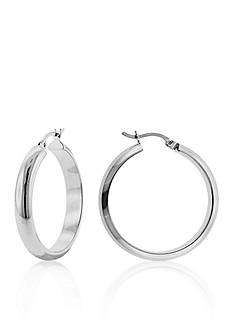 Belk & Co. High Polished Round Hoop Earrings in Sterling Silver