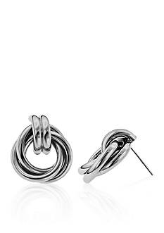 Belk & Co. Large Sterling Silver Love Knot Earrings