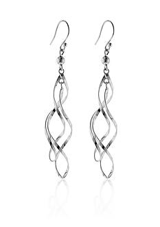 Belk & Co. Sterling Silver Double Twist Drop Earrings