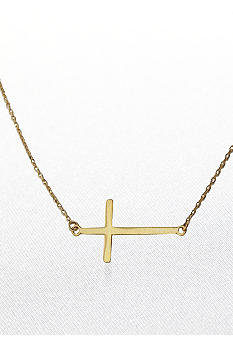 Belk & Co. 14k Yellow Gold Sideways Cross Necklace
