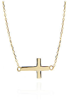 Belk & Co. 14k Yellow Gold Sideways Cross Pendant