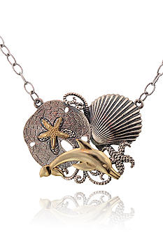 Belk & Co. Sterling Silver and 14k Sealife 18 Inch Necklace