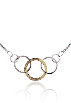 Belk & Co. Sterling Silver and 14k Triple Circle Necklace