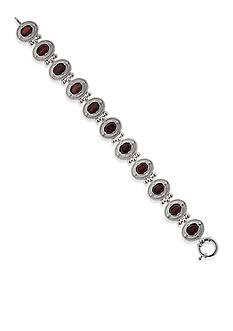 Belk & Co. Sterling Silver Garnet Bracelet