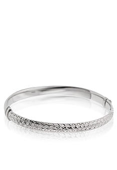 Belk & Co. Sterling Silver Textured Hinged Bangle