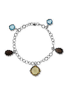 Belk & Co. Sterling Silver Multi Gemstone Charm Bracelet