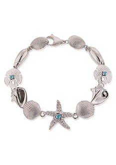 Belk & Co. Sterling Silver Blue Topaz Sea Life Bracelet