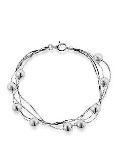 Belk & Co. Sterling Silver Multi Row Beaded Bracelet