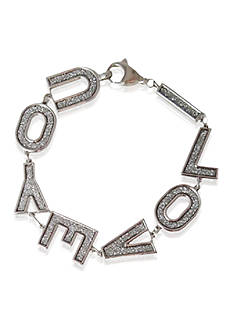 Belk & Co. Sterling Silver I Love You Glitter Bracelet