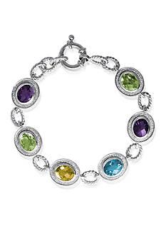 Belk & Co. Sterling Silver Multi Gemstone Sparkle Bracelet
