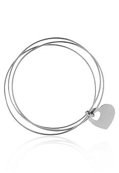 Belk & Co. Sterling Silver Triple Bangle Heart Bracelet