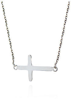 Belk & Co. Sterling Silver Sideways Cross 18