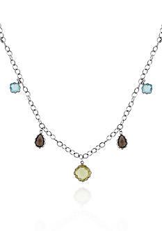 Belk & Co. Sterling Silver Multi Gemstone Necklace