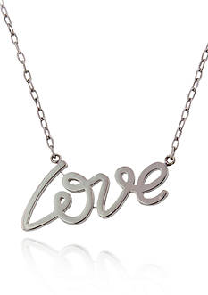 Belk & Co. Sterling Silver Love Necklace