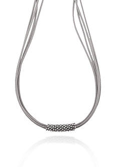 Belk & Co. Sterling Silver Multi Mesh Strand Necklace