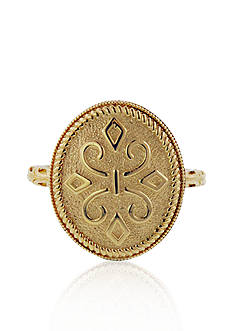Belk & Co. 14k Yellow Gold Oval Etruscan Ring