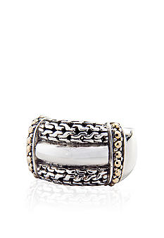 Belk & Co. Sterling Silver and Yellow Gold Ring