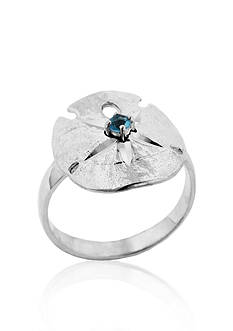 Belk & Co. Sterling Silver Blue Topaz Sand Dollar Ring