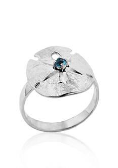 Belk & Co. Sterling Silver Blue Topaz Sand Dollar Ring