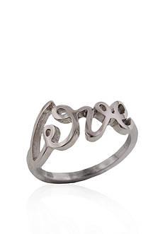 Belk & Co. Sterling Silver Love Ring