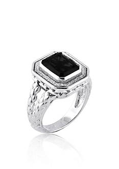 Belk & Co. Onyx Ring in Sterling Silver