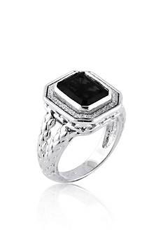 Belk & Co. Onyx Ring in Sterling Silver