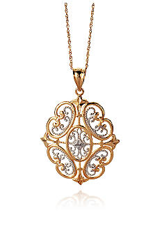Belk & Co. 14k Gold Two Tone Pendant