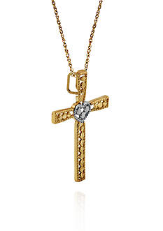 Belk & Co. 14k Two Tone Gold Cross Pendant