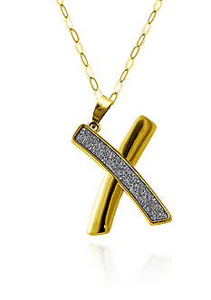 Belk & Co. 10k Yellow Gold X Sparkle Pendant