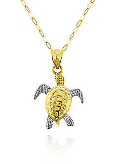 Belk & Co. 10k Two-Tone Gold Turtle Pendant