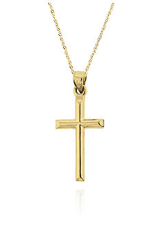 Belk & Co. Small Gold Cross Necklace