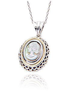 Belk & Co. Sterling Silver and 14k Cameo Pendant with 18-in Chain