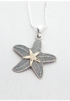 Belk & Co. Sterling Silver with 14k Starfish Pendant