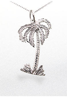 Belk & Co. Sterling Silver Palm Tree Pendant With 18inch Chain