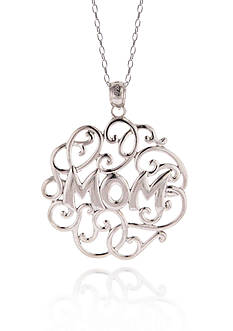 Belk & Co. Sterling Silver MOM Pendant