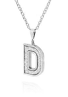 Belk & Co. Sterling Silver Glitter Initial D Pendant