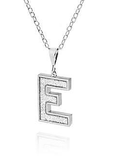 Belk & Co. Sterling Silver Glitter Initial E Pendant