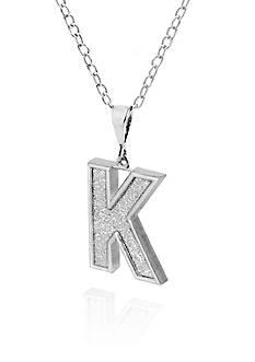 Belk & Co. Sterling Silver Glitter Initial K Pendant