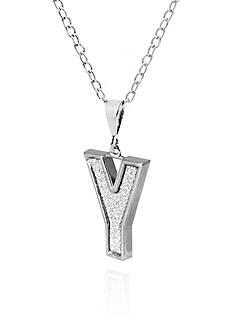 Belk & Co. Sterling Silver Glitter Initial Y Pendant