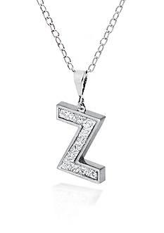 Belk & Co. Sterling Silver Glitter Initial Z Pendant