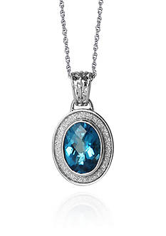 Belk & Co. Sterling Silver Blue Topaz Sparkle Pendant