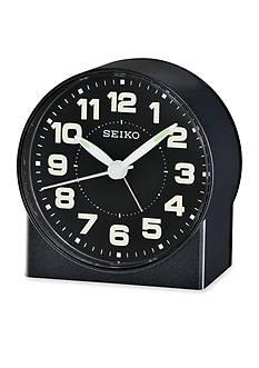 Seiko Black Metallic Bedside Alarm Clock