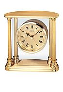 Seiko Gold Tone Solid Brass Desk & Table Clock