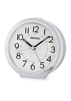 Seiko Silver-Tone Bedside Alarm Clock