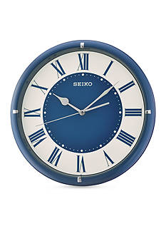 Seiko Blue Metallic Case Wall Clock