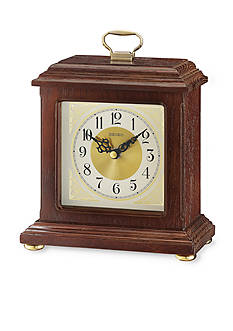 Seiko Wooden Carriage Desk Clock